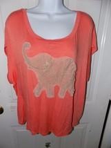 CATO  Orange W/Lace Elephant Detail on Front Size 18/20W Women's EUC - $15.60