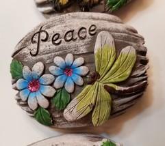 Decorative Stones Set of 3 Garden Decor Love Peace Hope Painted Rock image 8