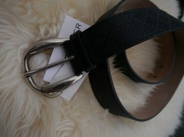 NWT 100% AUTH Gucci Men's Black Diamante Leather Belt 268237 Sz 90/36 - $394.02