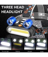 PROBE SHINY 2019 15000LM 2x XM L T6 LED+COB Rechargeable 18650 Headlamp ... - $13.40