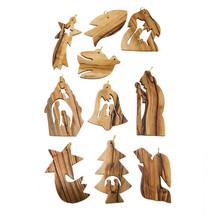 Handmade Christmas Tree Ornaments Nativity set Olive Wood  from Bethlehe... - $12.87