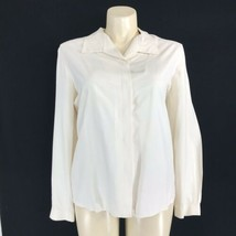 Koret Blouse Beige Ivory Silk 20 Plus Country Classics Top Long Sl Butto... - $8.79