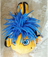 """Zibbies Plush Clown Fish 10"""" Embroidered Face Jelly Hair - Super Cute! - $14.01"""
