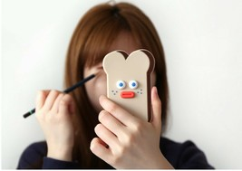 Brunch Brother popped Eye Handheld Mirror Makeup Travel Mini Hand Mirror (Toast) image 2