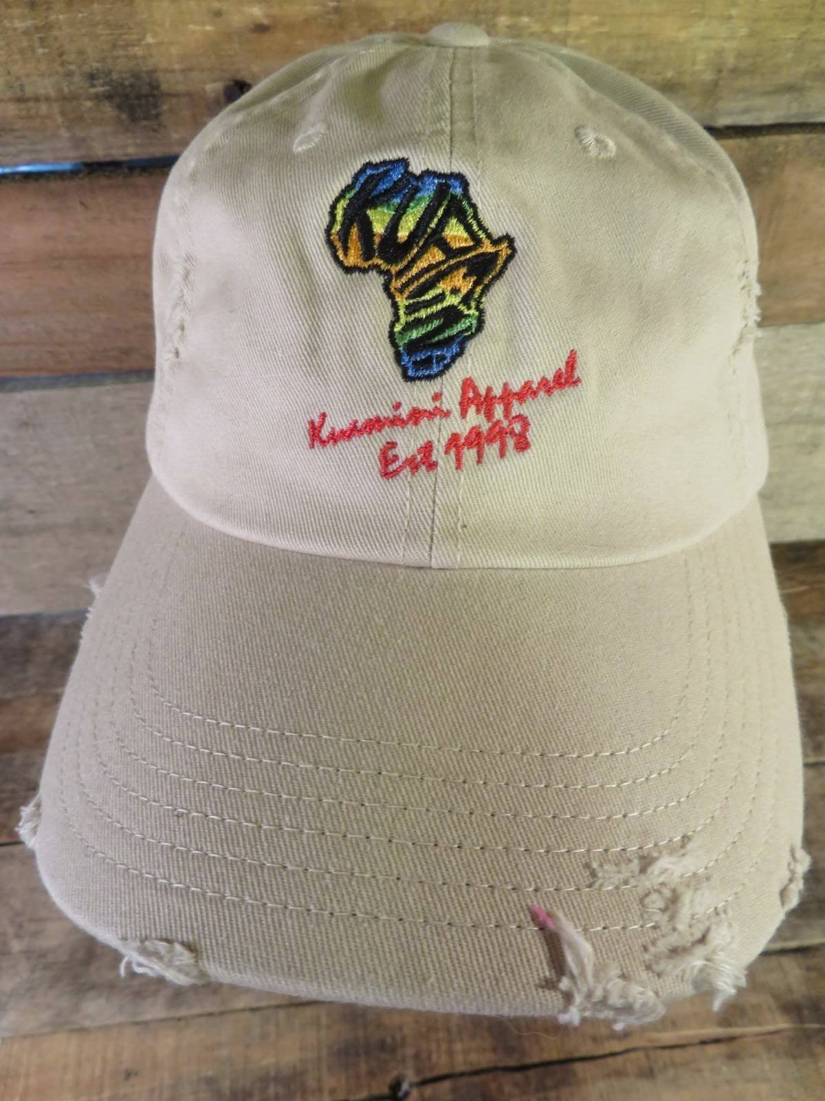 Primary image for KUAMINI Apparel Est 1998 Distressed Adjustable Adult Hat Cap