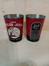 Sailor Jerry Pin Up Spiced Rum Liquor Tin Can Cup Red set of 2 camping o... - $19.99