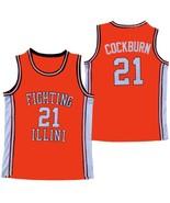 Kofi Cockburn Fighting Illinois College Basketball Jersey Sewn Orange An... - $29.99+