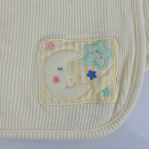 Circo Vintage Thermal Cotton Baby Receiving Blanket Yellow Moon Star Patch - $49.49