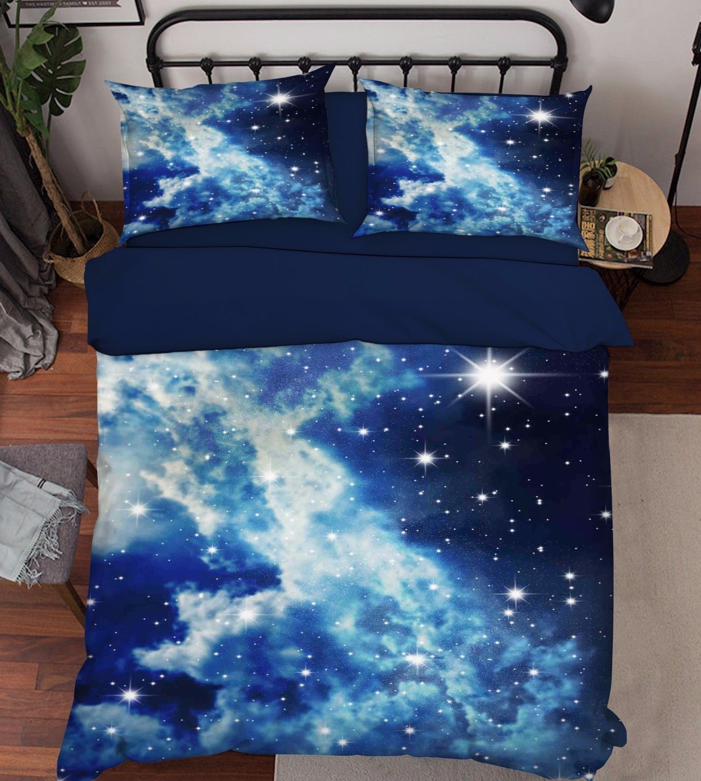 Primary image for 3D Sky Stars 202 Bed Pillowcases Quilt Duvet Cover Set Single Queen King Size AU