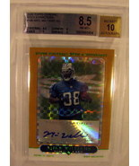 Mike Williams 2005 Topps Chrome Xfractor Autograph Rookie Beckett BGS 8.5 - $9.49
