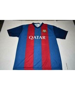 Men's F.C. Barcelona Lionel Messi XL Jersey (Red/Blue) N.B. - $28.04