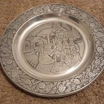 Wilton RWP Pewter 1983 Christmas Plate -carolers - $32.04