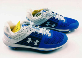 Under Armour Yard Low Baseball Training Cleats Men's US Size 9 Blue 3021711 - $69.29