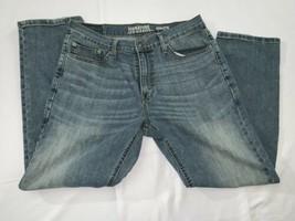 Mens 32x30 Levi Signature Athletic Blue Straight Denim Jeans - $23.75