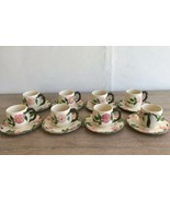 Franciscan Desert Rose 8 Cocoa Cups & 8 Extra Saucers California Arch Logo  - $54.44