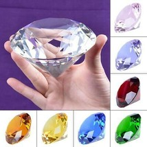 Ship From USA 100mm Clear Crystal Diamond Paperweight Home Wedding Decoration Cr image 1