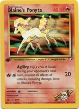 Pokemon Card 1st Edition Blaine's Ponyta (63/132) Gym Heroes Set Common ... - $1.99