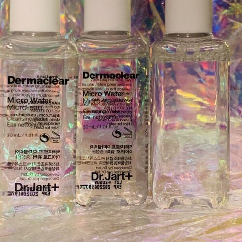 3x NEW Dr. Jart Dermaclear Miclar Cleansing Water 30mL (90mL Total)