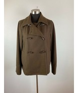 Old Navy Womens Coat L Large Brown Coast To Coast Wool Blend Peacoat - $98.99