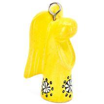 Tabaka Chigware Hand Carved Kisii Soapstone Yellow Angel Ornament Made in Kenya image 4