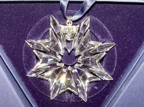 Swarovski Crystal Annual Christmas Ornament 2003