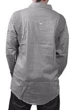 Orisue Noir Blanc Vichy Pittsburgh Manches Longues Tissé Bouton Bas T-Shirt Nwt image 2