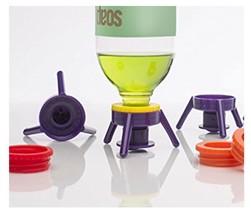Cap Stand 6Pcs Toss Flip Bottles System Economy Easy Pour Kit Kitchen De... - $12.99