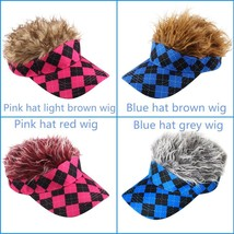 Craftsman Baseball Outdoor Sports Golf Hat Cap Sun Visor Wig Hat Fake Fl... - $29.69