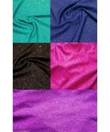 Glitter Knit Hair Scrunchie Scrunchies by Sherry Blue Pink Green Purple Black  - $7.99