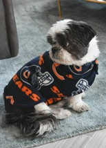 New Handmade Chicago Bears Blue Fleece Dog Coat Jacket Collar Lined Smal... - $84.50