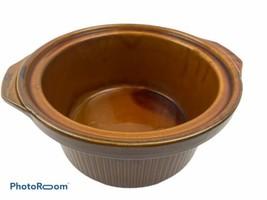RIVAL CROCK POT SLOW COOKER 3154 INSERT STONEWARE 4 Quart Caramel Brown - $19.70