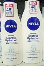 NIVEA Express Hydration Body Lotion Deep Moisture 48 Hours 400 mL - $21.78
