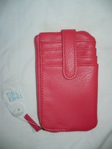 Time And Tru Ladies Card Case Solid Coral Punch Color W Zip Pouches NEW - €9,91 EUR