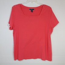 Karen Scott Womens Size 2X Pullover Top Short Sleeve - $11.30