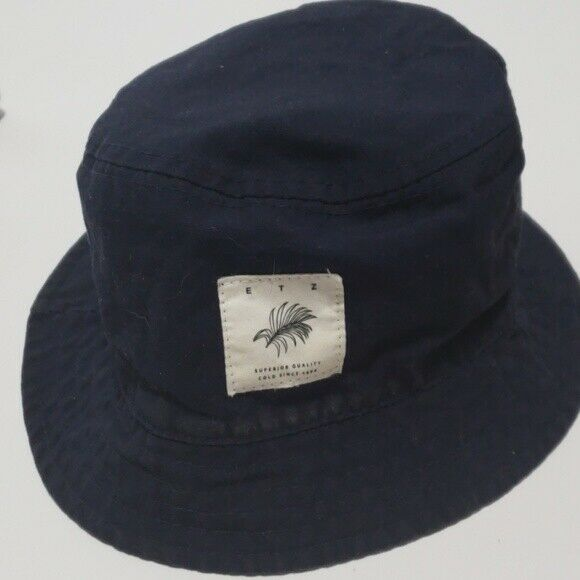 H&M Bucket Hat Reversible Navy and Tan