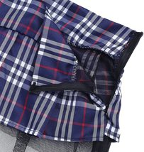 dPois Womens School Girl Cosplay Fancy Dress Costume Crop Top with Plaid Mini Sk image 5