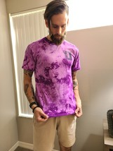 Men's Regular Fit Tee Tie Dye Purple/Black - $19.99