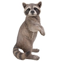 18.8 inches Life Size Raccoon Standing On Hind Legs Statue Sculpture - $89.09