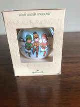 NeWVINTAGE HALLMARK CHRISTMAS ORNAMENT  JOAN WALSH ANGLUND ice skating - $14.85