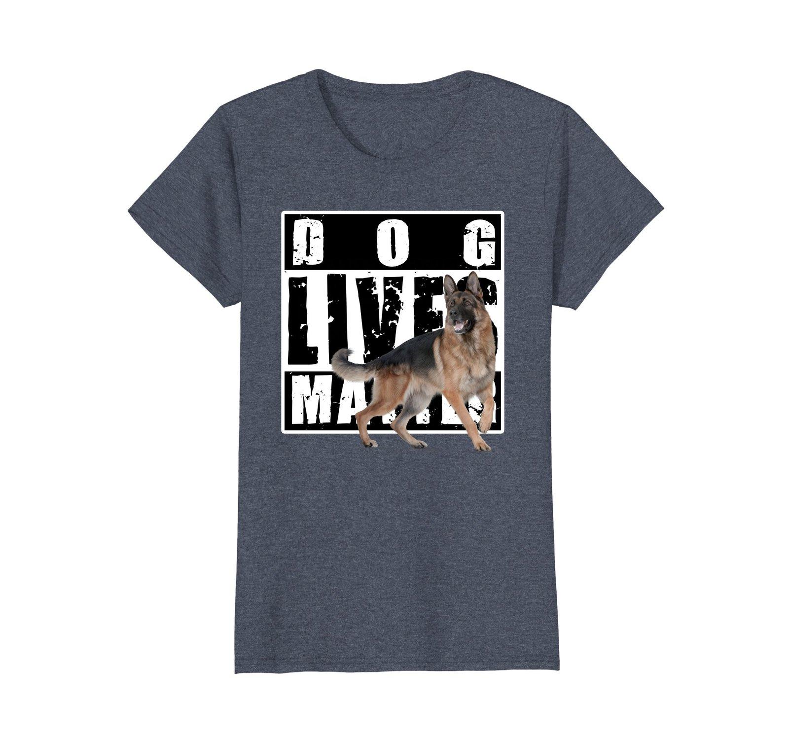 Dog Lives Matter German Shepherd Police Dog Rescue Dog Shirt