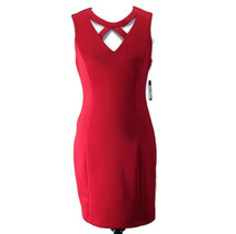 Guess Los Angeles Sheath Dress Womens Sz 10 Red Sleeveless Polyester New - $27.99
