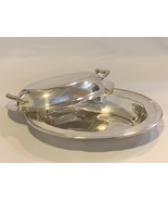 "Silver Plated Butter Dish with lid 13"" x 9"" - $299.99"