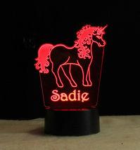 Personalized Unicorn Lamp Night light USB or Wall Plug In image 9