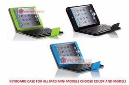 Wireless Bluetooth keyboard Leather Case with Stand for All Ipad Mini 1 ... - $27.99