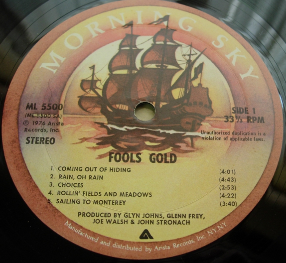 Fools Gold - Self Titled - Arista Records ML 5500