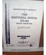 Copy of Manual  Instruction Manual For the National Model NC-125 Radio R... - $8.99
