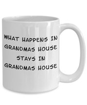 Funny Grandmas House White Ceramic Novelty Coffee Mug (15oz) - $16.61