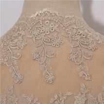 Champagne Gold Lace Wedding Shrugs Boleros Short Sleeve Wedding Guest Cover Ups image 5