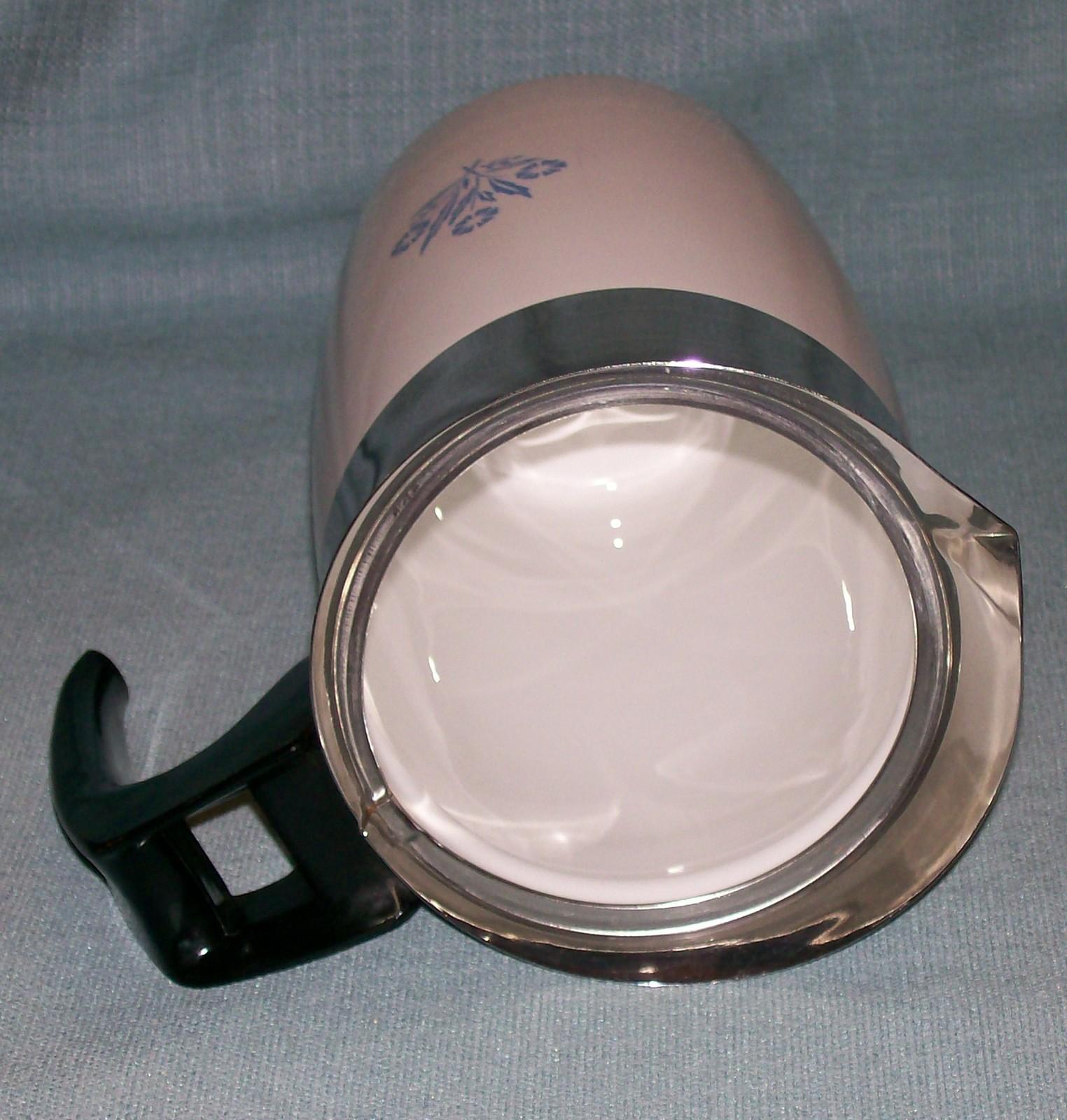 Corning Ware BLUE CORNFLOWER Electric Coffee Pot/Percolator 6 cup P-6-EP VGVC  image 7