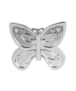 Alexx Finders Key Purse 01C-261 Butterfly Cross Finders Key Purse, Silver - $12.99